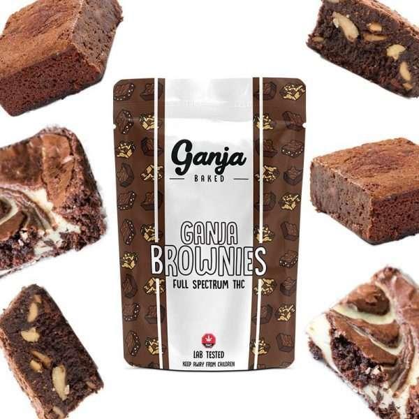 Buy Ganja Edibles UK Marble Brownie 1x 600mg