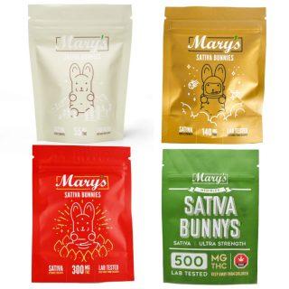 Mary's Edibles – Sativa – Bunnies UK (55mg-500mg THC)