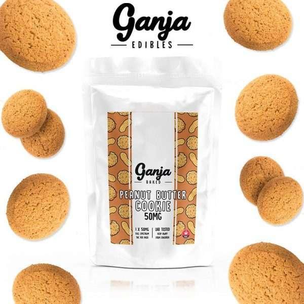 Buy Ganja Edibles Peanut Butter Cookie 50mg